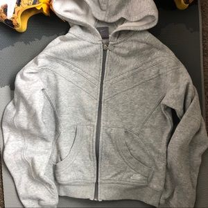 Nike Sportswear Retro Crop Zip Gray Hoodie S EUC